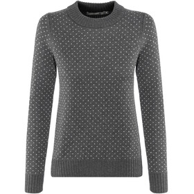 Icebreaker Waypoint Crew Sweater Women Charcoal Heather/Steel Heather